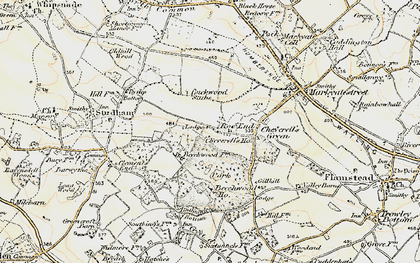 Old map of Roe End in 1898-1899