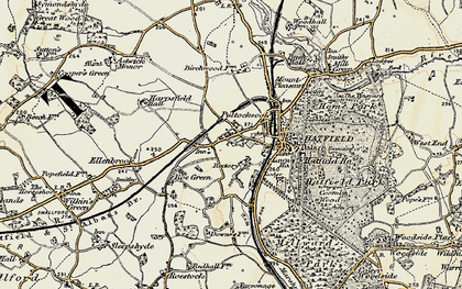 Old map of Roe Green in 1898
