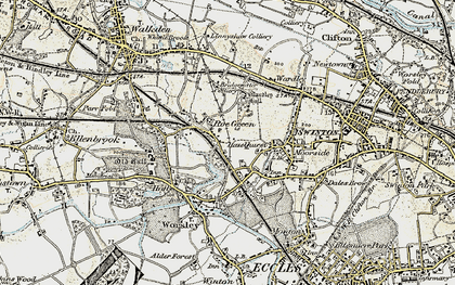 Old map of Roe Green in 1903