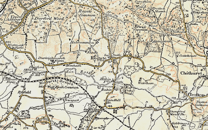 Old map of Rogate in 1897-1900