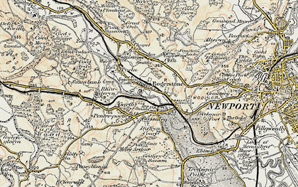 Old map of Rogerstone in 1899-1900