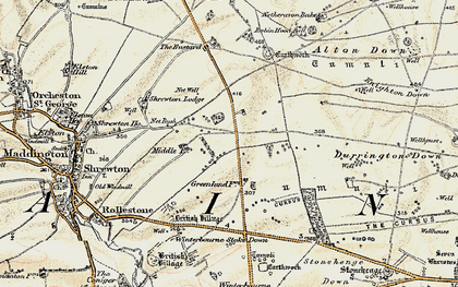 Old map of Airman's Corner in 1897-1899