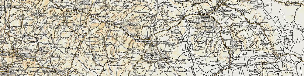 Old map of Rolvenden in 1898