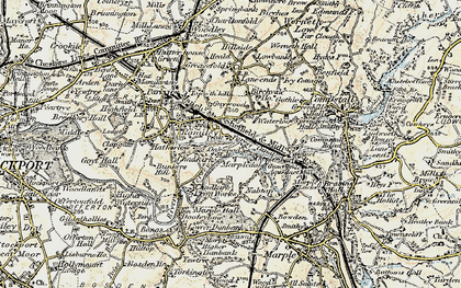 Old map of Romiley in 1903