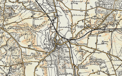 Old map of Romsey in 1897-1909