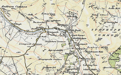Old map of Rookhope in 1901-1904