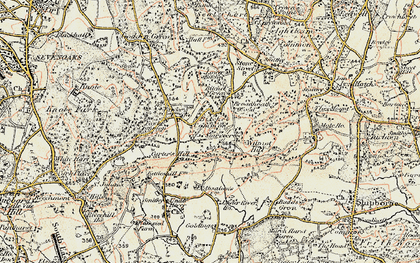 Old map of Wilmot Hill in 1897-1898