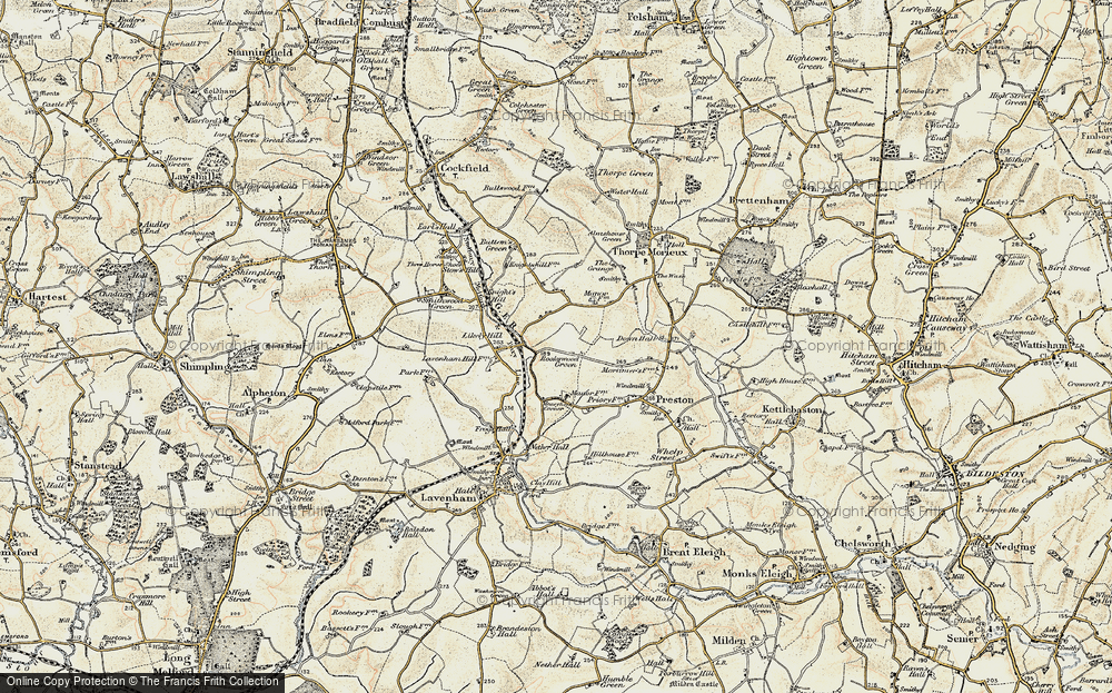 Old Map of Historic Map covering Likely Hill in 1899-1901