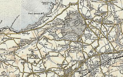 Old map of Roscroggan in 1900
