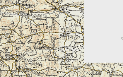 Old map of Whippenscott in 1899-1900