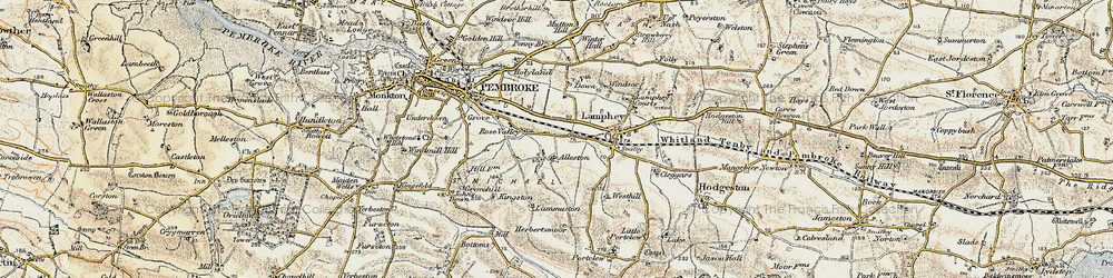 Old map of Alleston in 1901-1912