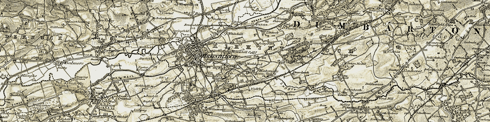 Old map of Wester Gartshore in 1904-1905