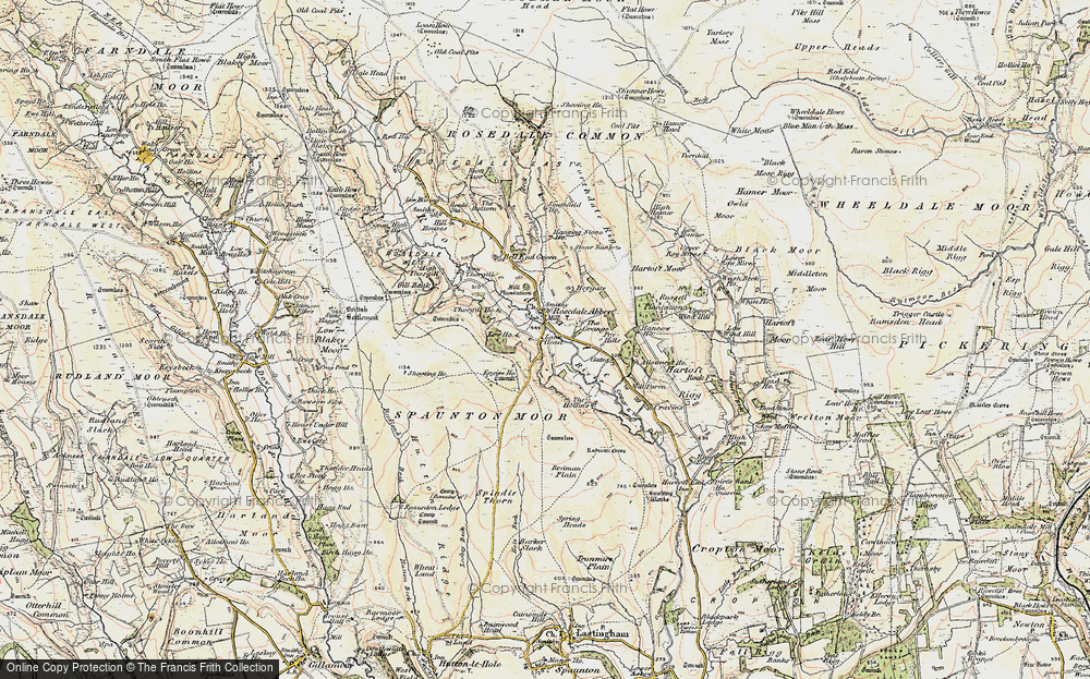 Old Map of Historic Map covering Bank Top in 1903-1904