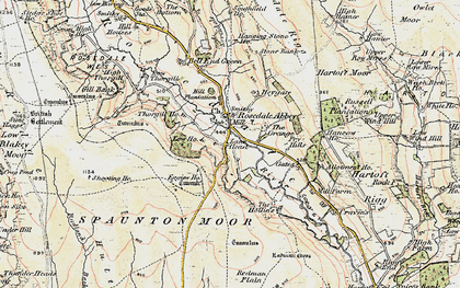 Old map of Bank Top in 1903-1904