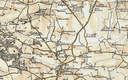 Old map of Rosedinnick in 1900