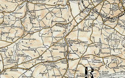 Old map of Rosehill in 1900