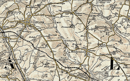 Old map of Roseland in 1900
