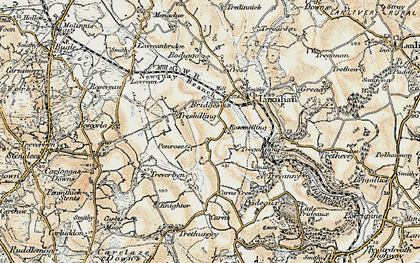 Old map of Rosemelling in 1900