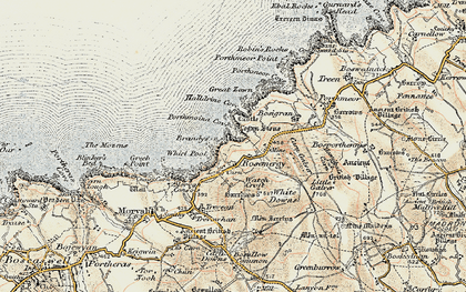 Old map of Rosemergy in 1900