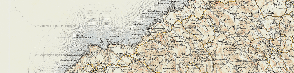 Old map of Whirl Pool in 1900
