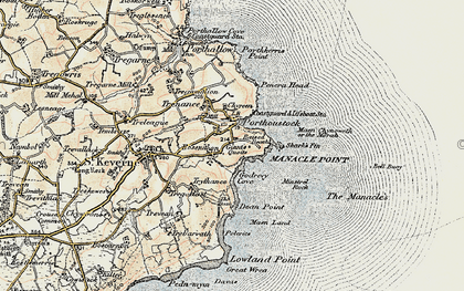 Old map of Rosenithon in 1900