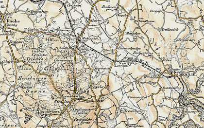 Old map of Rosevean in 1900