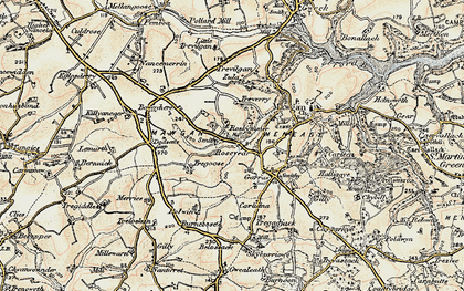 Old map of Rosevear in 1900
