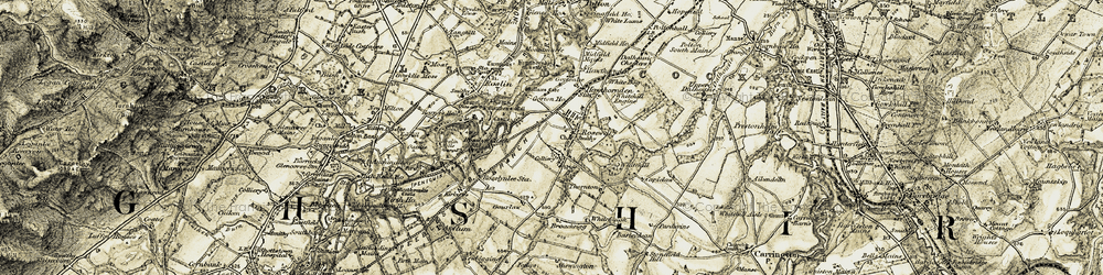 Old map of whitehill ho in 1903-1904