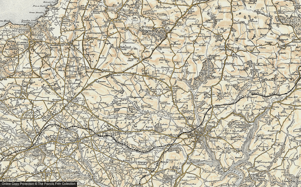 Old Map of Roseworthy, 1900 in 1900