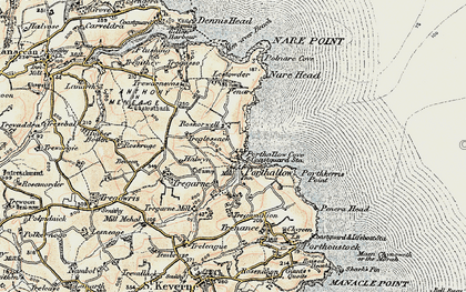 Old map of Roskorwell in 1900