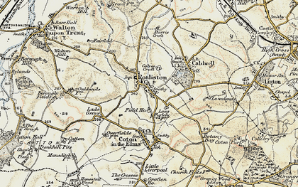 Old map of Rosliston in 1902
