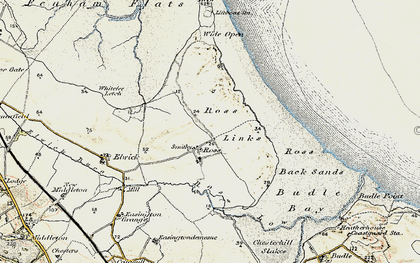 Old map of Wide Open in 1901-1903