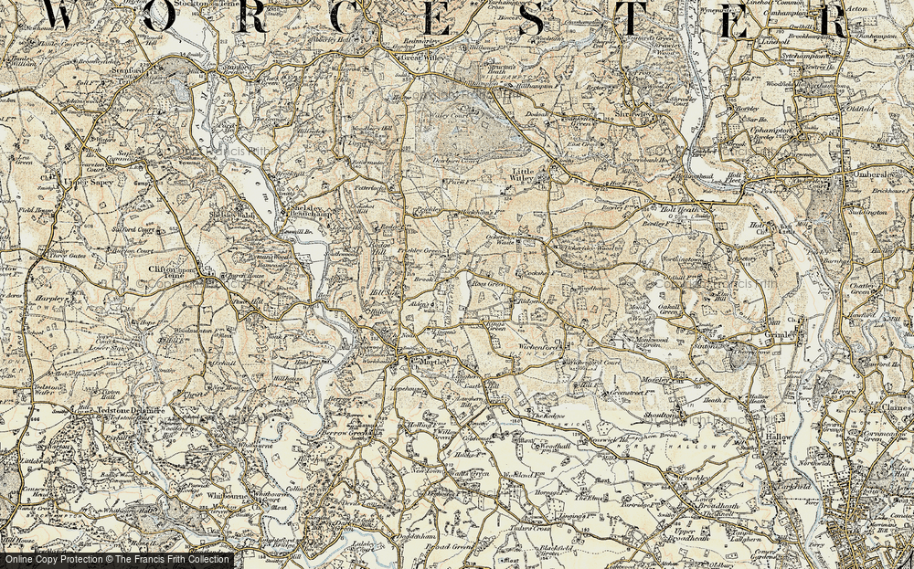Old Map of Historic Map covering Laughern Brook in 1899-1902
