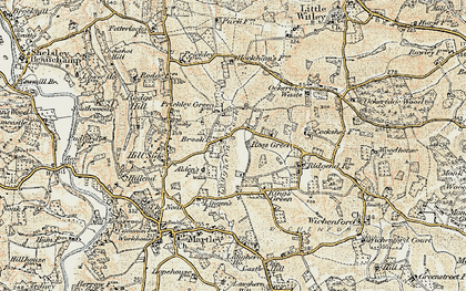 Old map of Laughern Brook in 1899-1902