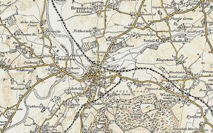 Old map of Ross-on-Wye in 1899-1900