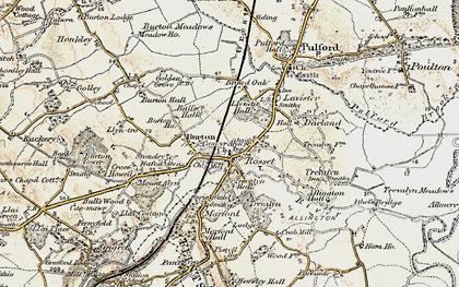 Old map of Rossett in 1902-1903