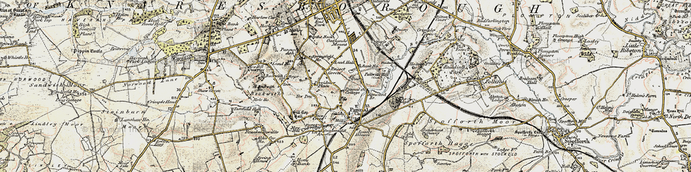 Old map of All Saints Court in 1903-1904