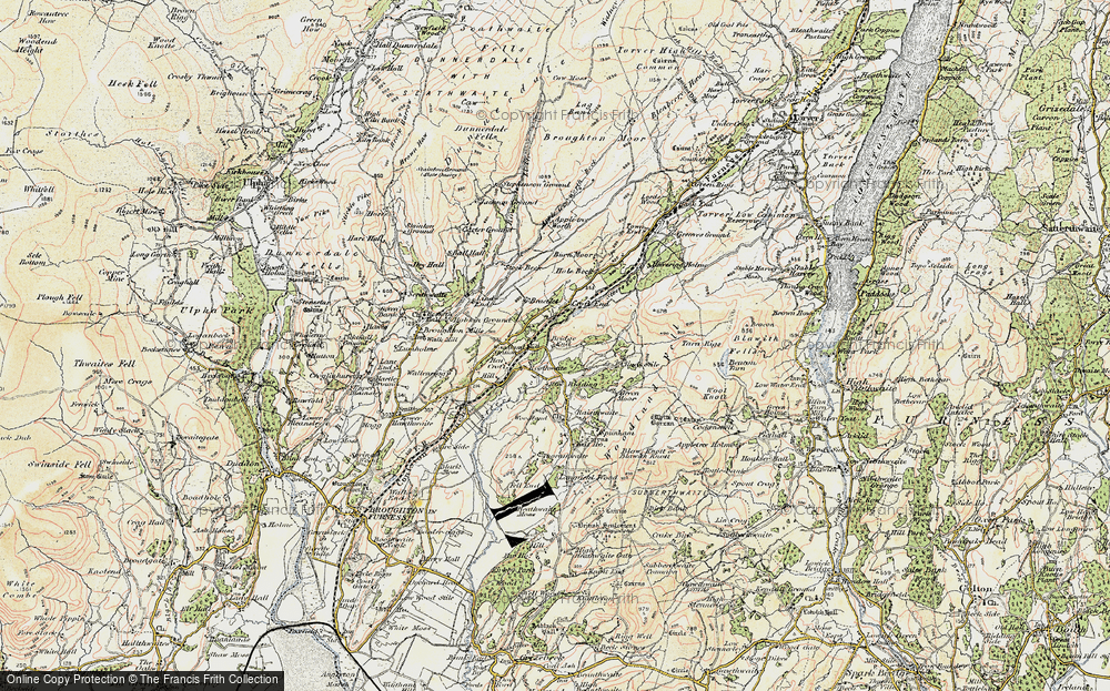 Old Map of Historic Map covering Woodland Grove in 1903-1904