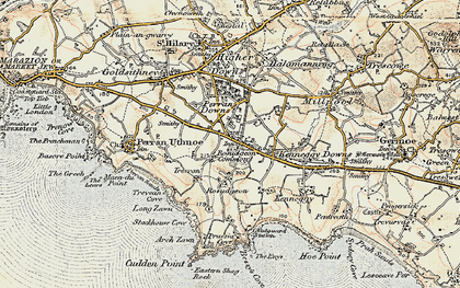 Old map of Rosudgeon in 1900
