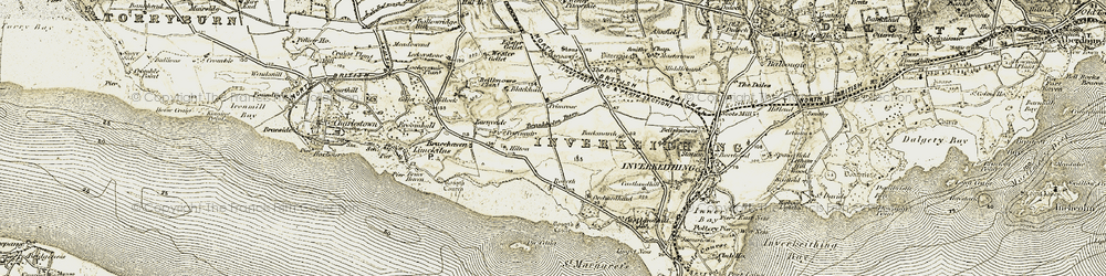 Old map of Rosyth in 1904-1906