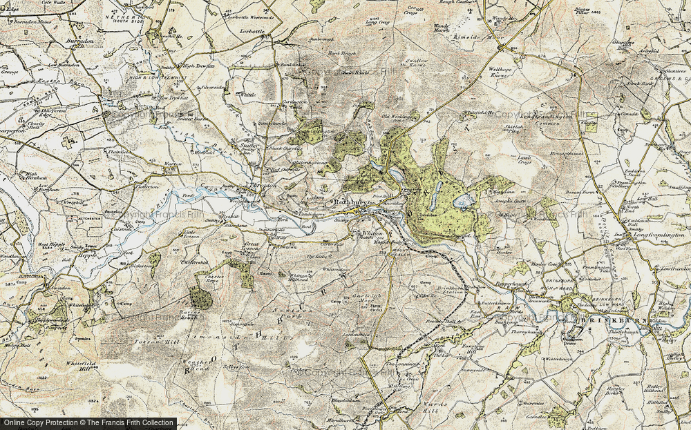 Old Map of Historic Map covering Addycombe in 1901-1903
