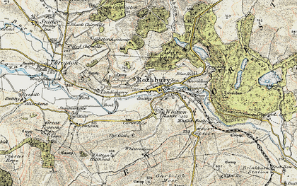 Old map of Whittondean in 1901-1903