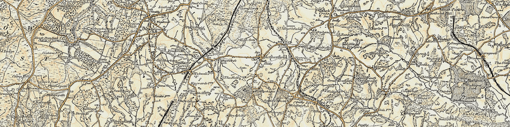 Old map of Rotherfield in 1898