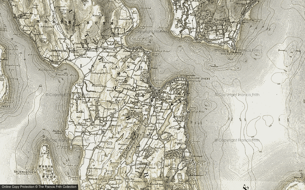 Old Map of Rothesay, 1905-1907 in 1905-1907