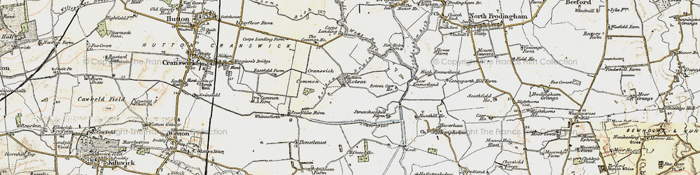 Old map of Whinnyforth in 1903