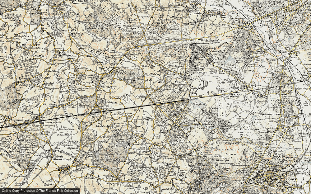 Old Map of Historic Map covering Lichett Plain in 1897-1909