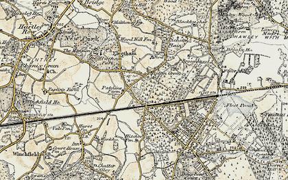 Old map of Lichett Plain in 1897-1909