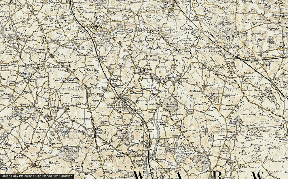 Old Map of Historic Map covering Lansdowne in 1901-1902