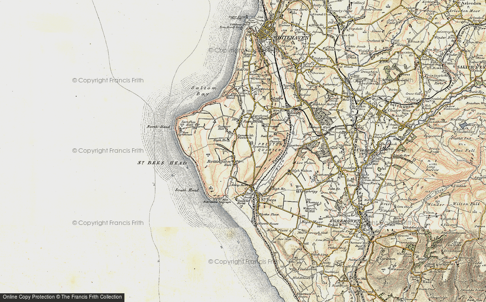 Old Map of Historic Map covering Tomlin in 1903-1904