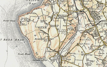 Old map of Tomlin in 1903-1904